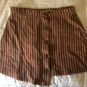 urban outfitters striped button up skirt
